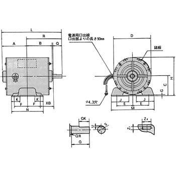 AES-TBF4P100W 単相標準モータ ...