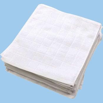 879ba7d5ee0165 A216104 格子柄おしぼりタオル50枚組 ホワイト 1組(50枚) テンダイ ...