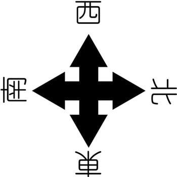 東西南北 クレーン標識 300角 1枚 グリーンクロス 【通販サイト ...
