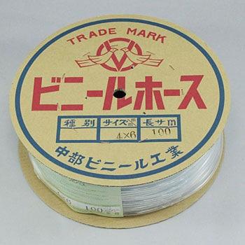 4x6 透明ビニールホース 1巻 中部ビニール工業 通販モノタロウ 34569875