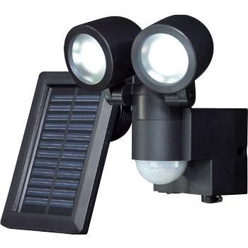 ESL-102SL(BK) ソーラー式LEDセンサーライト 1台 ELPA (朝日電器 ...