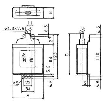 低圧進相コンデンサ 口出線付三相専用 パナソニック(Panasonic)   低圧進相コンデンサ